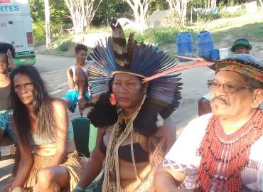 Visita da Teia dos Povos em solidariedade ao Povo Pataxó